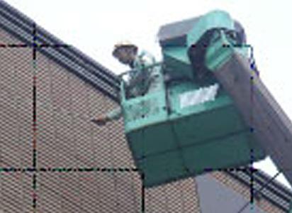 高所作業車(タイル)