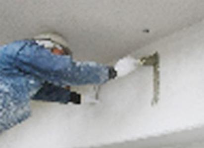 外壁補修部塗装仕上げ